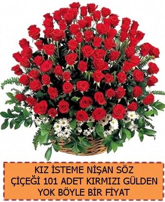 101 Güllü söz nişan kız isteme çiçeği  Türkiye çiçek yolla , çiçek gönder , çiçekçi