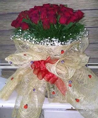 41 adet kırmızı gülden kız isteme buketi  Türkiye çiçek satışı