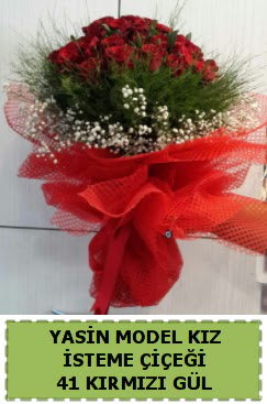 41 Adet kırmızı gül kız isteme çiçeği  Türkiye kaliteli taze ve ucuz çiçekler