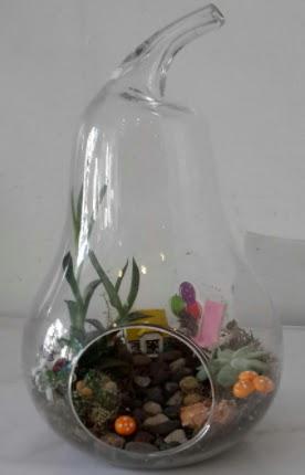 Orta boy cam armut terrarium  Türkiye çiçek yolla , çiçek gönder , çiçekçi