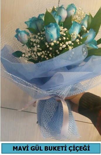 12 adet mavi gülden mavi buket  Türkiye online çiçekçi , çiçek siparişi