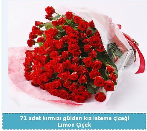 41 adet kırmızı gül kız isteme buketi  Türkiye online çiçekçi , çiçek siparişi
