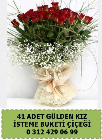 41 kırmızı gülden kız isteme çiçeği buketi  Türkiye kaliteli taze ve ucuz çiçekler w