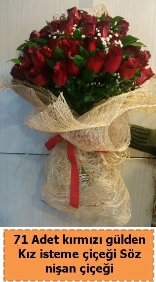 71 adet kırmızı gül söz nişan çiçeği  Türkiye çiçek yolla , çiçek gönder , çiçekçi