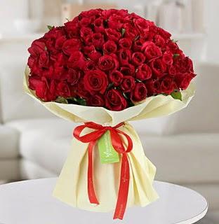 101 adet kırmızı gül buketi koca demet  Türkiye ucuz çiçek gönder