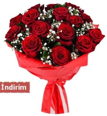 12 Adet kırmızı aşk gülleri  Türkiye çiçek yolla , çiçek gönder , çiçekçi