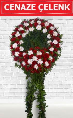 Kırmızı Beyaz Çelenk Cenaze çiçeği  Türkiye çiçek mağazası , çiçekçi adresleri