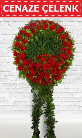 Kırmızı Çelenk Cenaze çiçeği  Türkiye çiçek mağazası , çiçekçi adresleri