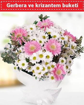 Papatya ve Gerbera Buketi  Türkiye İnternetten çiçek siparişi