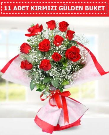 11 Adet Kırmızı Gül Buketi  Türkiye ucuz çiçek gönder