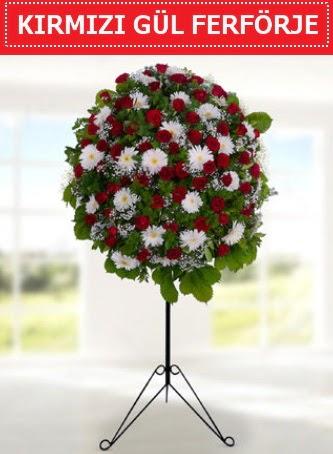 Kırmızı gül ferförje 40 adet gül ve gerbera  Türkiye güvenli kaliteli hızlı çiçek