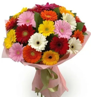 Karışık büyük boy gerbera çiçek buketi  Türkiye çiçek yolla , çiçek gönder , çiçekçi