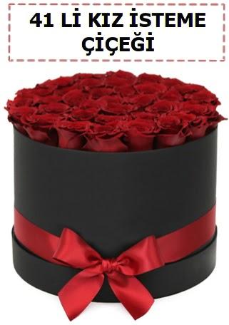 41 li kız isteme kutuda çiçek  Türkiye çiçek gönderme sitemiz güvenlidir