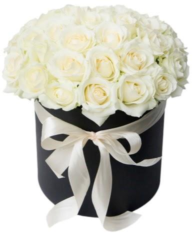 41 adet özel kutuda beyaz gül  Türkiye çiçek yolla , çiçek gönder , çiçekçi   süper görüntü