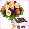 Türkiye ucuz çiçek gönder  Renkli Güller ve çikolata